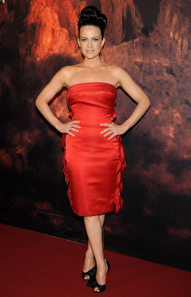 Carla Gugino Gets Leafy