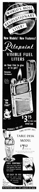 vintage table lighters, Ritepoint, advert