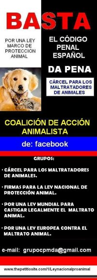 CARCEL PARA LOS MALTRATADORES DE ANIMALES