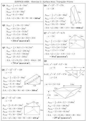 mathsonline answers surface area triangular prisms. Black Bedroom Furniture Sets. Home Design Ideas