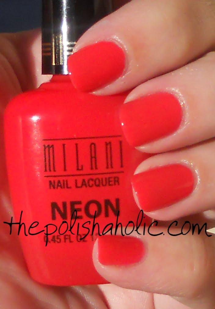I loved this image of milani neon nail