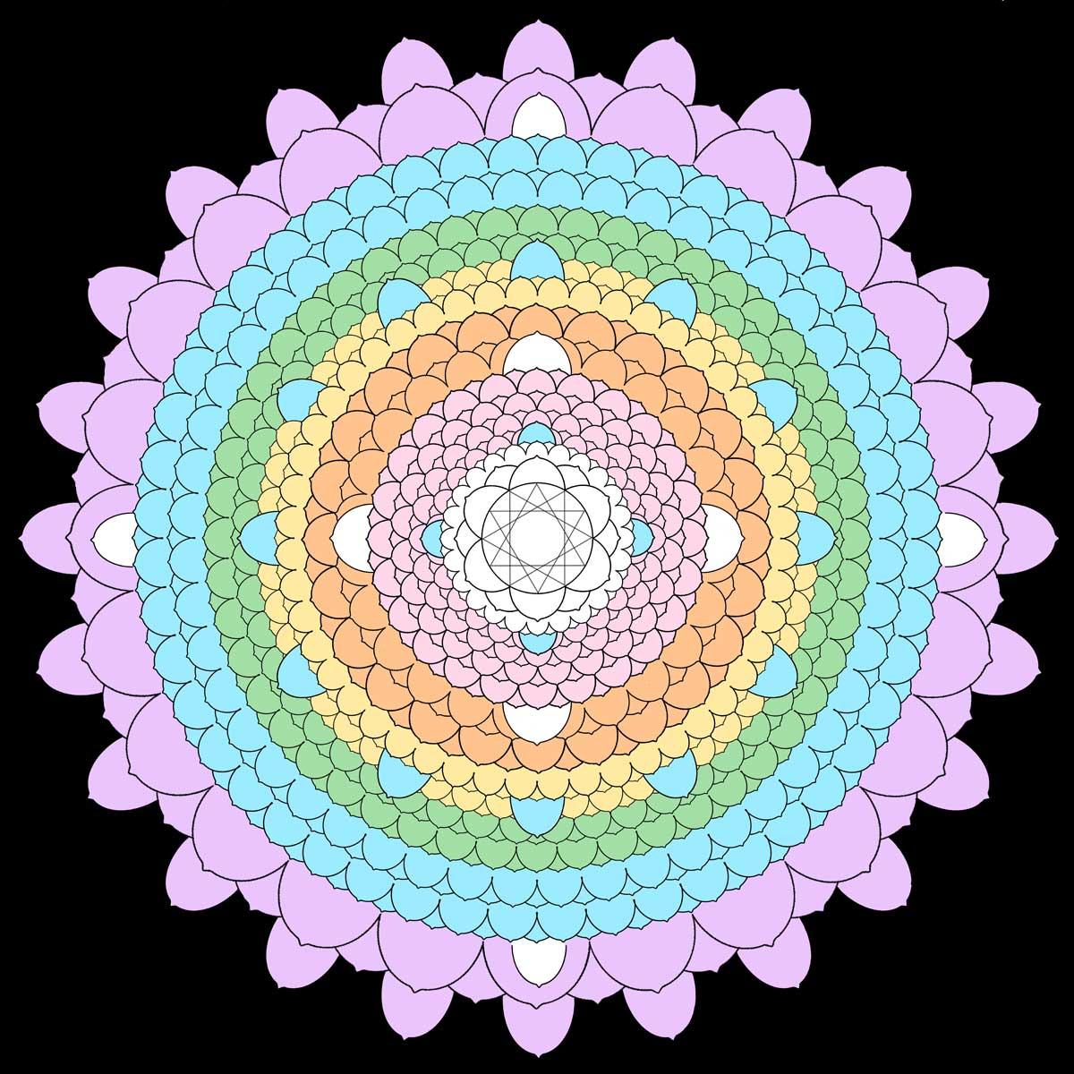 Brightlight Mandalas Rainbow Thousand Petal Lotus