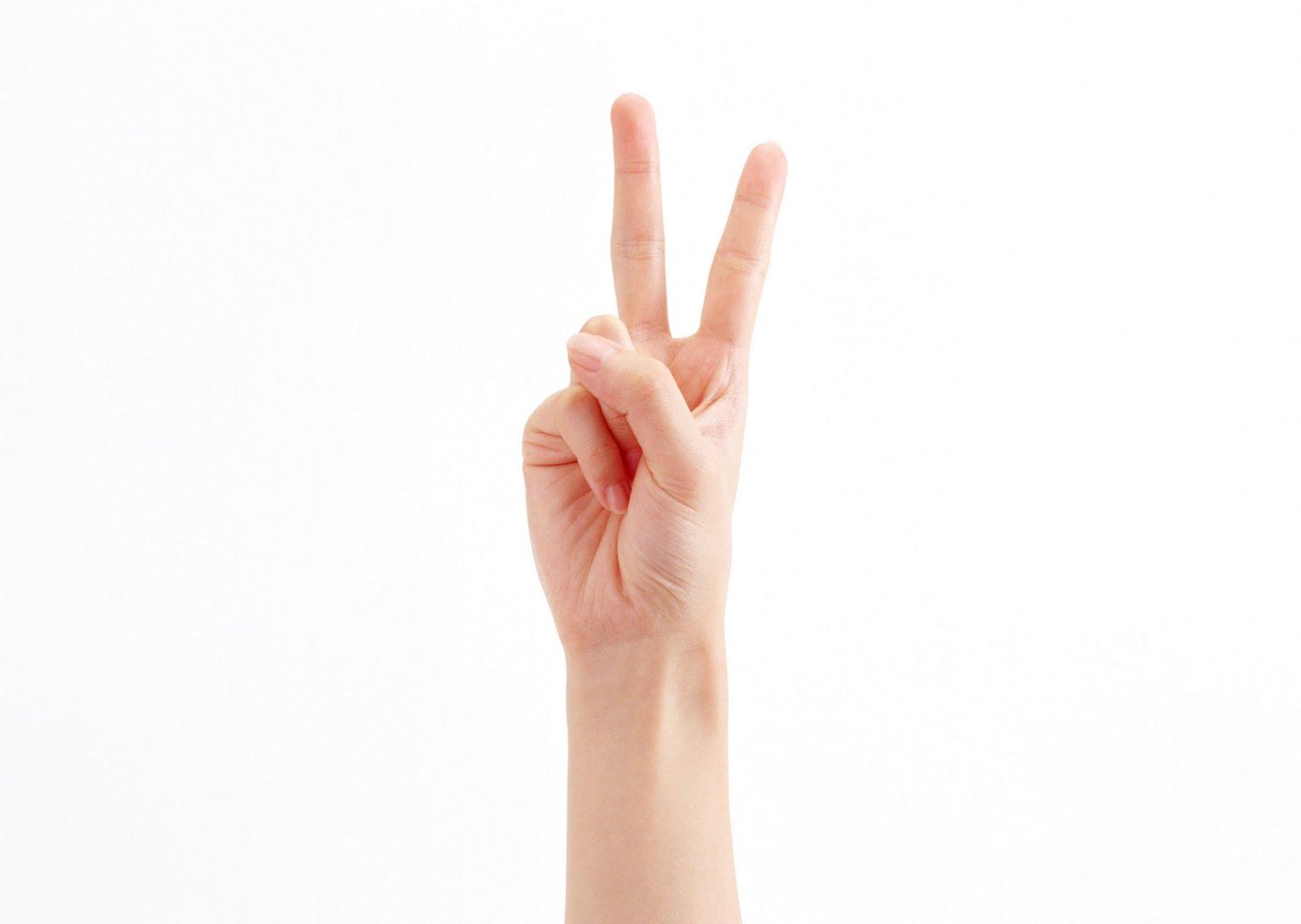Фото два пальца 3 фотография