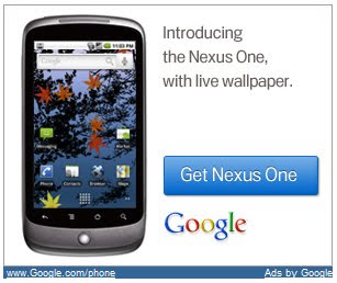 Google fills web with Nexus One advts