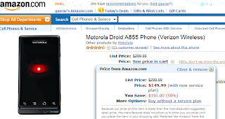 Droid prices fall, now for just $120 from Dell