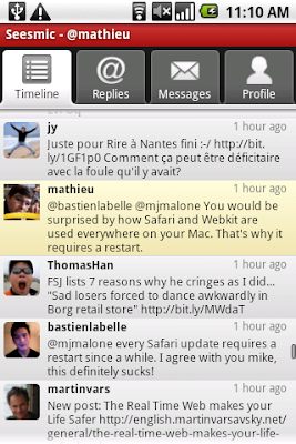 Better Twitter with Seesmic on Android now