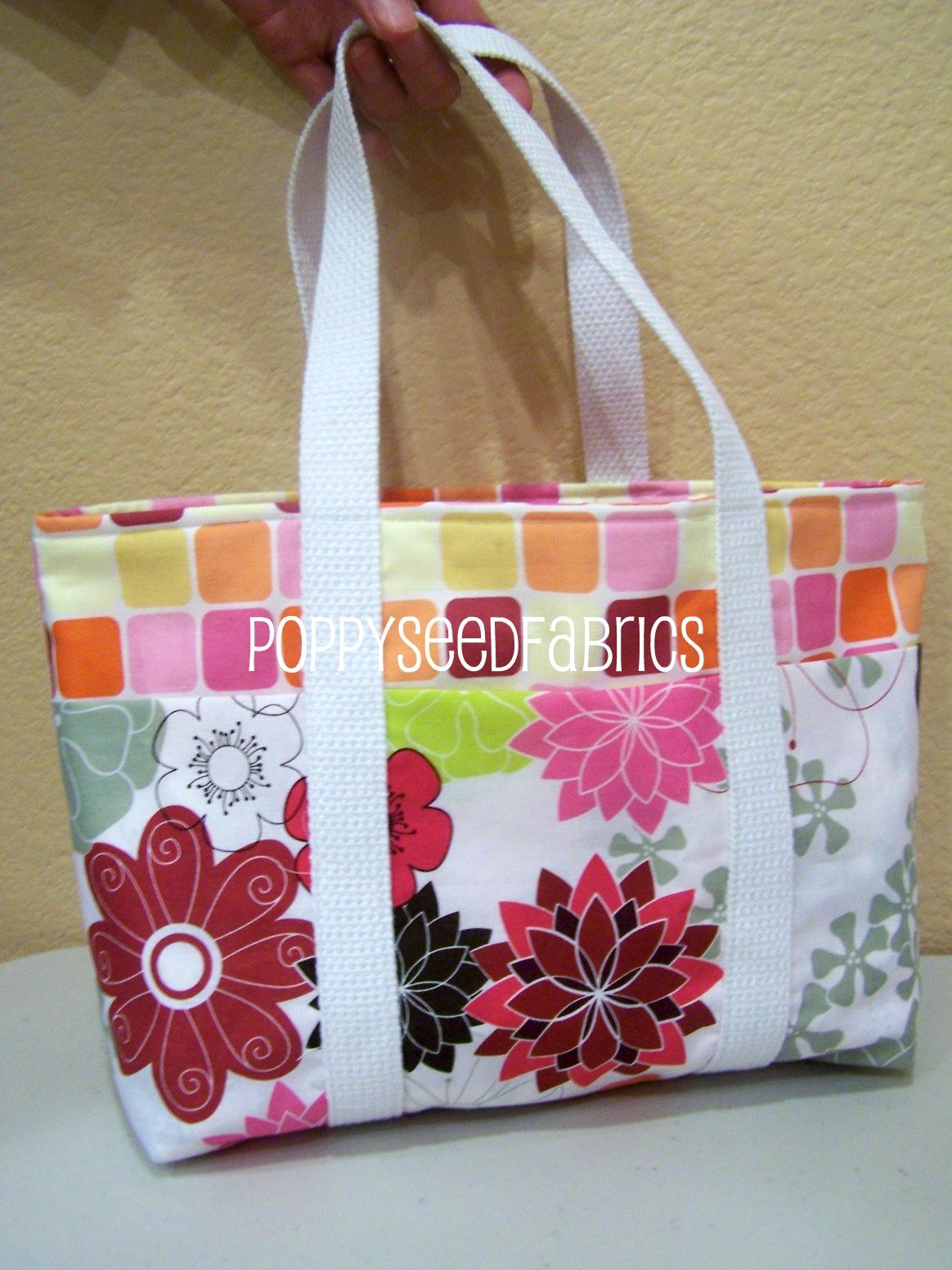poppyseed fabrics super easy tote bag tutorial updated. Black Bedroom Furniture Sets. Home Design Ideas