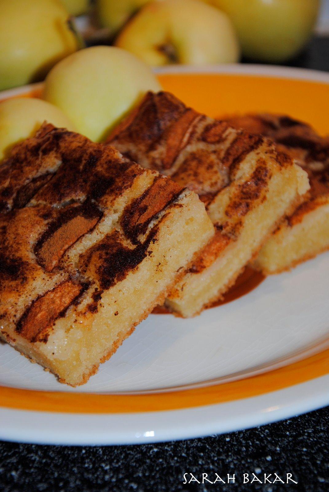glutenfri äppelkaka i långpanna