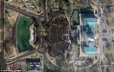 2 What Obama's two million crowd looked like from space   and why it will take days to clear up their mess