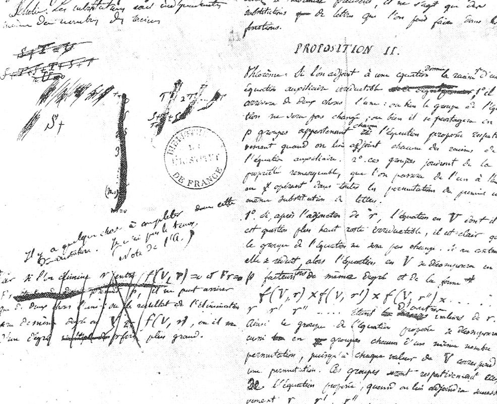[I] Evaristo Galois asesinado a los 20