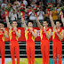 Equipe masculina chinesa participa de treino fechado para o Mundial