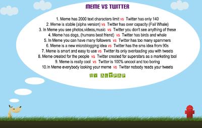 meme vs twitter