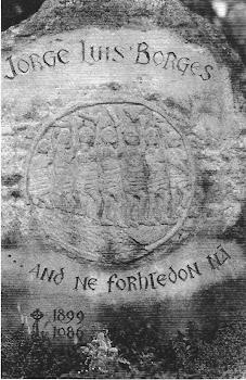 Lapida en la tumba de Borges