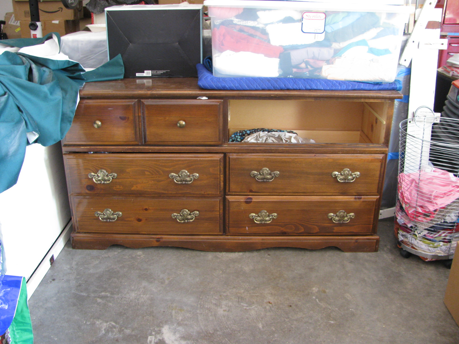 I Ve Had This Dresser For As Long Can Remember My Mom Bought It From An Unfinished Furniture And Stained Herself Years Ago