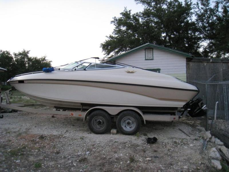 ... Crownline 225, a 22 foot bow rider they bought in Austin, Texas.