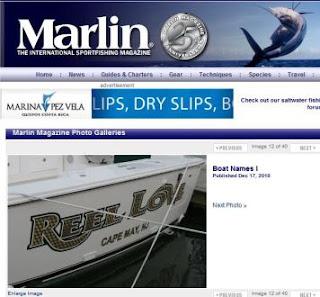 Marlin Magazine Fishing Boat Names