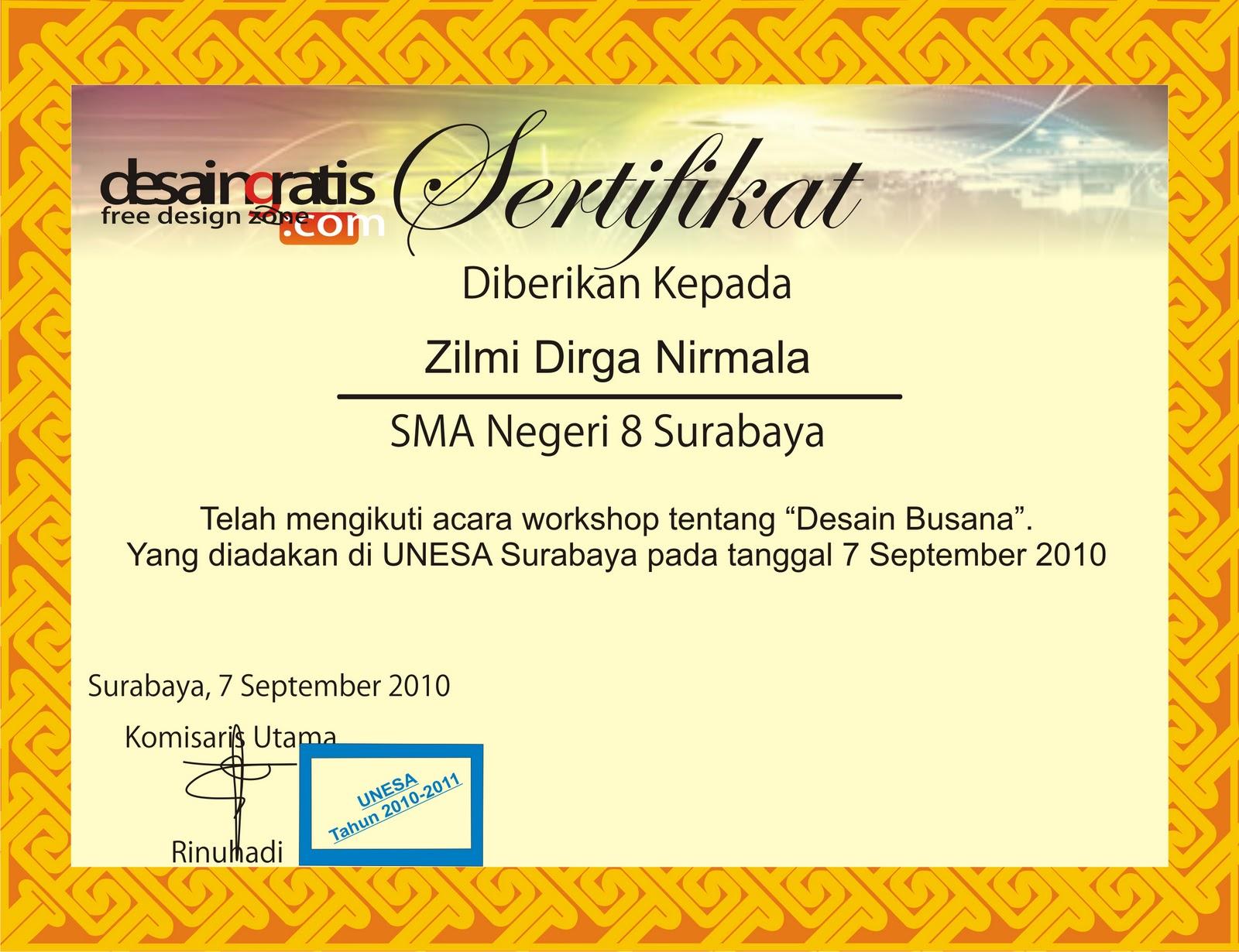 tugas sertifikat