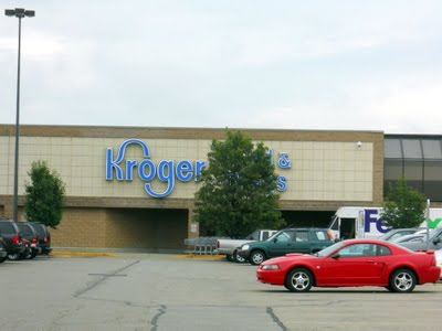 Kroger is at the opposite end of the strip mall. We love our Kroger in