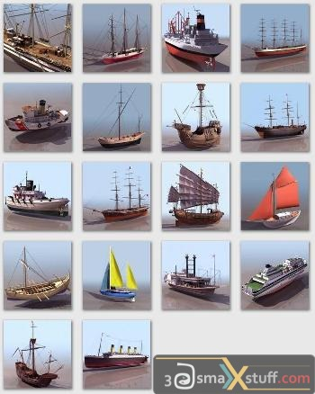 3DS Max Civil Ship Models