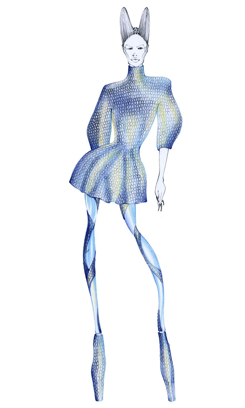 309 best fashion illustration - Alexander McQueen (by for him)