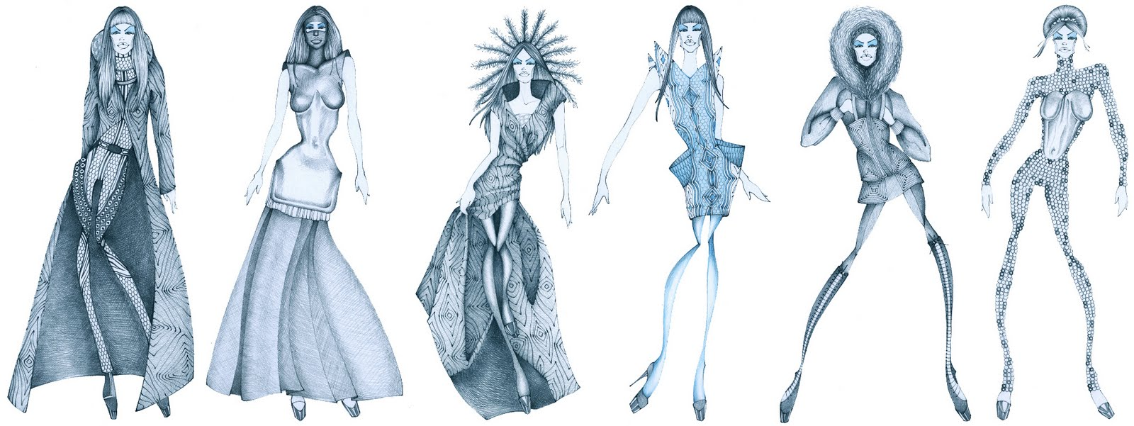 Alexander Mcqueen Original Sketches