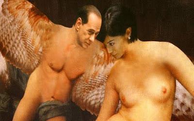Lukisan syur telanjang Silvio Berlusconi
