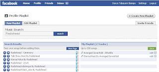 Pasang musik di Facebook