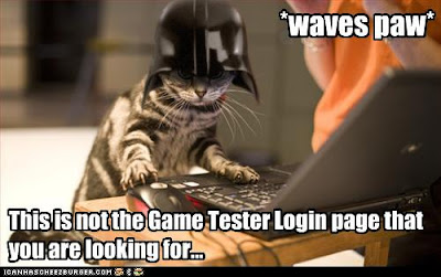 This is not the Game Tester Login page that you are looking for...
