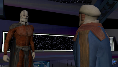 Darth Malak hires Calo Nord to capture Bastila Shan.