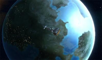 A Blockade Runner above Corellia.