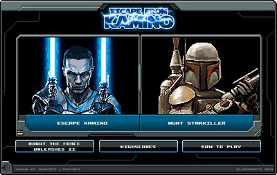 Star Wars: The Force Unleashed II Facebook Application – Escape from Kamino