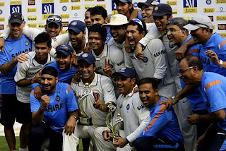 Team India after becoming World No 1 Test team in Cricket