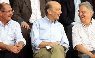 Serra,Geraldo Alckmin e José Arruda