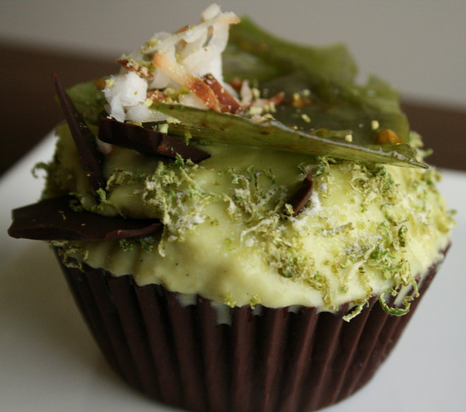 Lime Coconut Pistachio and Avocado Ice Cream Cupcake in a Bitter-Sweet ...