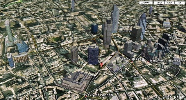 A Világ Pénzügyi Központja - The City of London, the Bank of London gigantikus épületével az alján