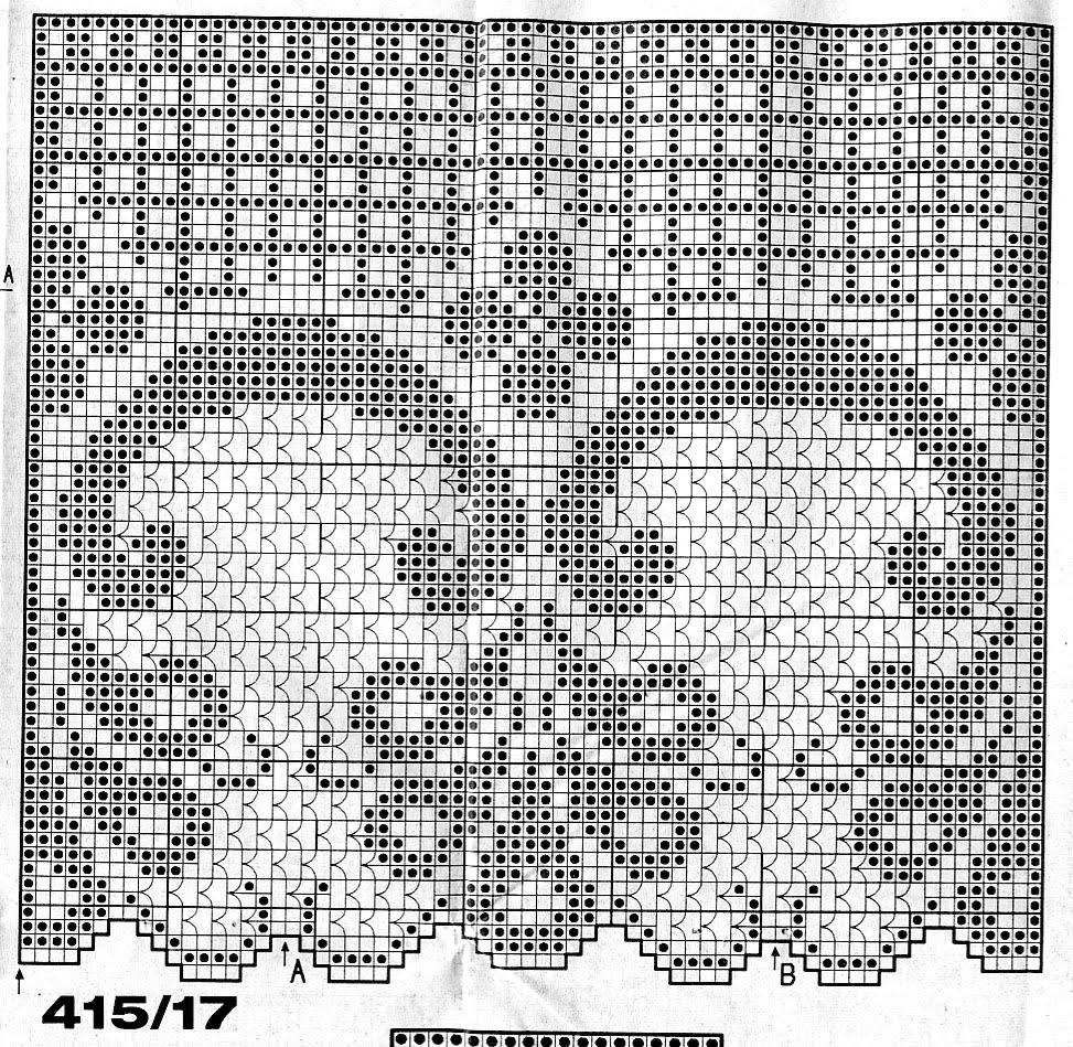 Филейное вязание шторы занавески схемы 45