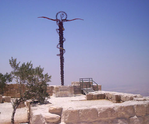 [Statue+of+brass+snake+made+by+Moses+to+rescue+Israelites+from+the+bite+of+venomous+snake.jpg]
