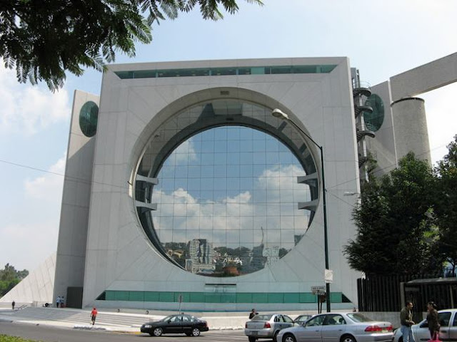 Calakmul Building - A building in a giant washing machine, Mexico