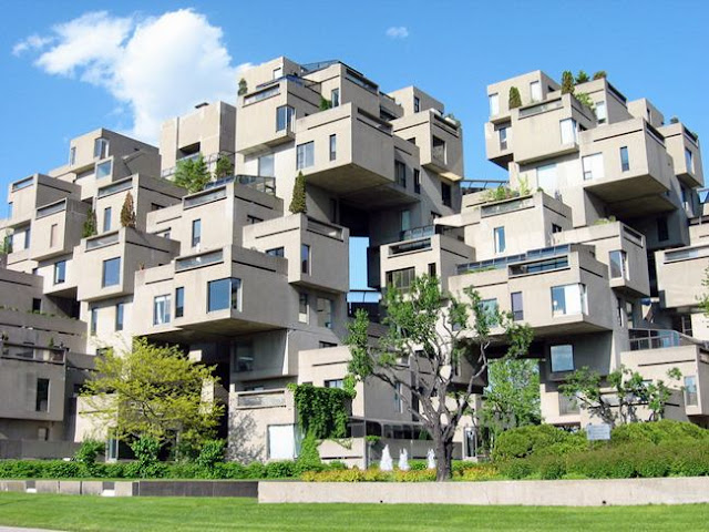 The residential complex Habitat-67. Montreal, Canada