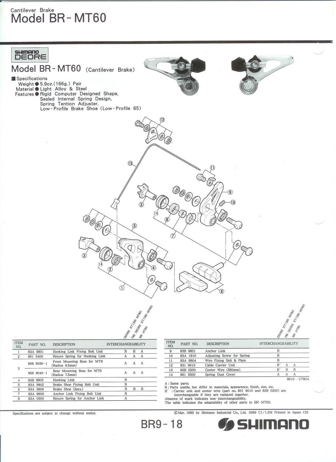 80 U0026 39 S Vintage Parts And Restorations  Exploded Shimano