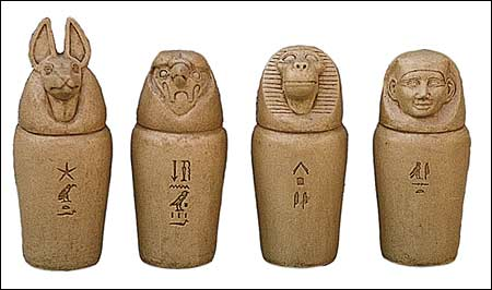how to make canopic jars out of clay