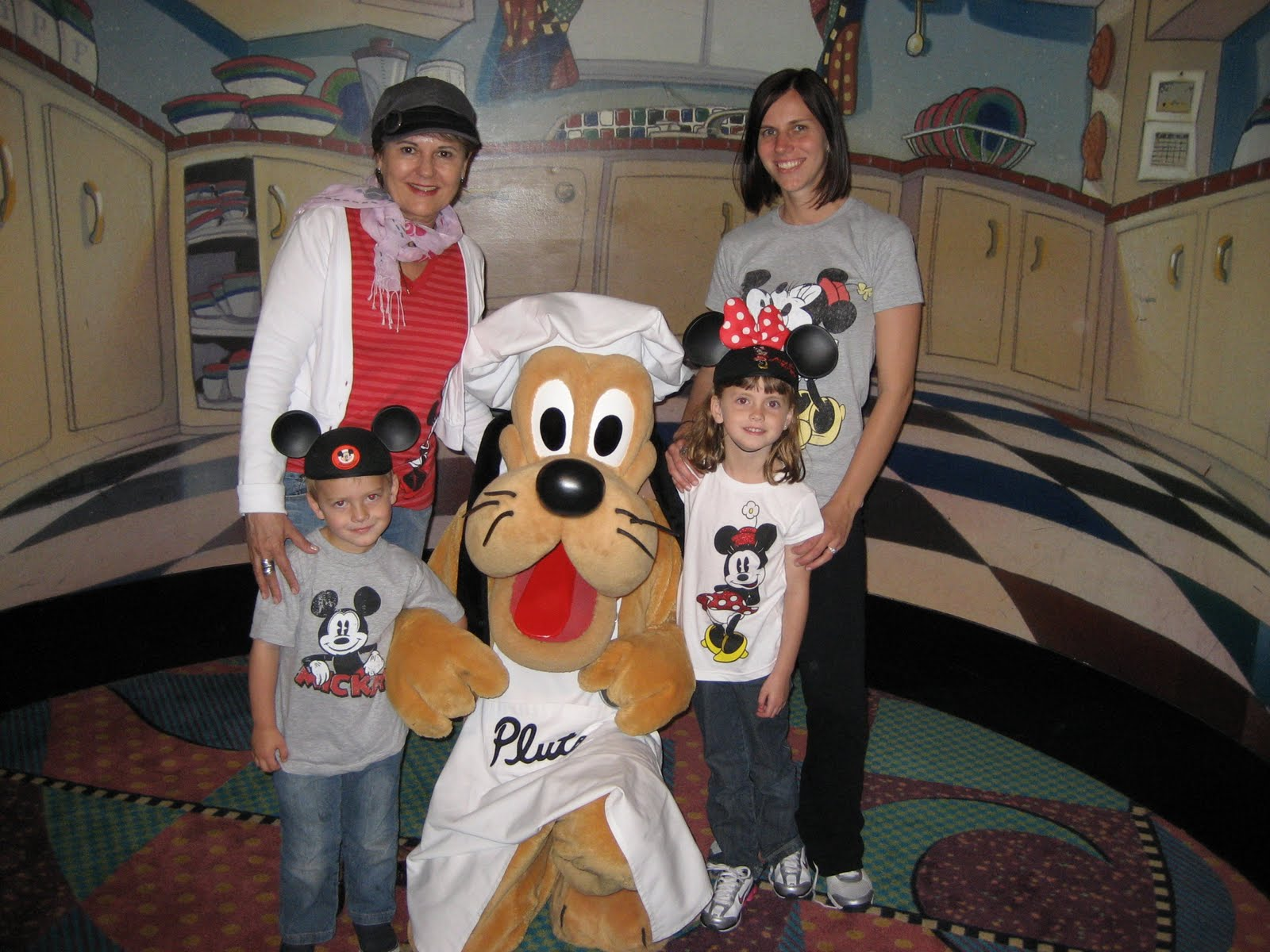 goofy gathered all the kids twice while we were there for dancing and cooking the kids loved even my mom got to dance with goofy - Goofys Kitchen