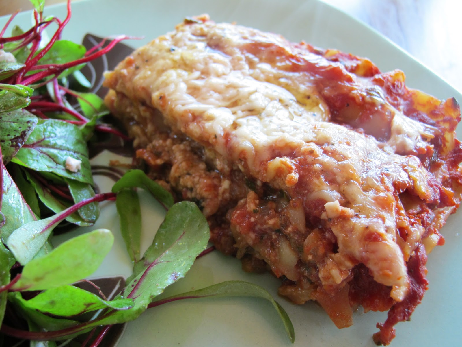 Obsessed with Dinner: Simple (but so good) Chard and Sausage Lasagna