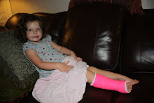Brynlyn's broken leg