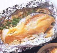 Resep Salmon Panggang Saus Putih