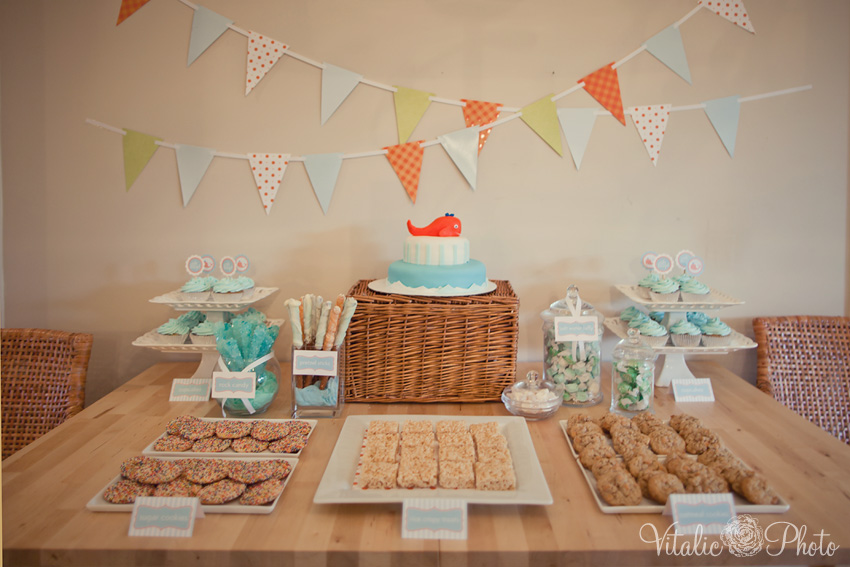 {Real Parties} Blue U0026 Orange Whale Baby Shower!