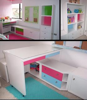 mueble para tv y juguetes con nichos y cajones para guardar lacado blanco en combinacin de colores