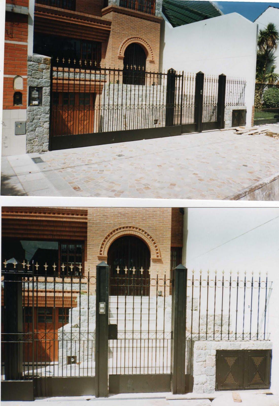 Metal oeste frente de rejas y portones for Rejas y portones