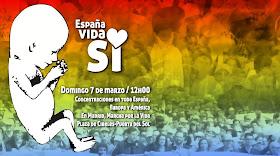 Marcha por la Vida en España, Domingo 7 de Marzo/ 12 Mediodía