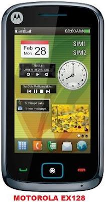 Touchscreen Dual SIM Mobile Motorola EX128